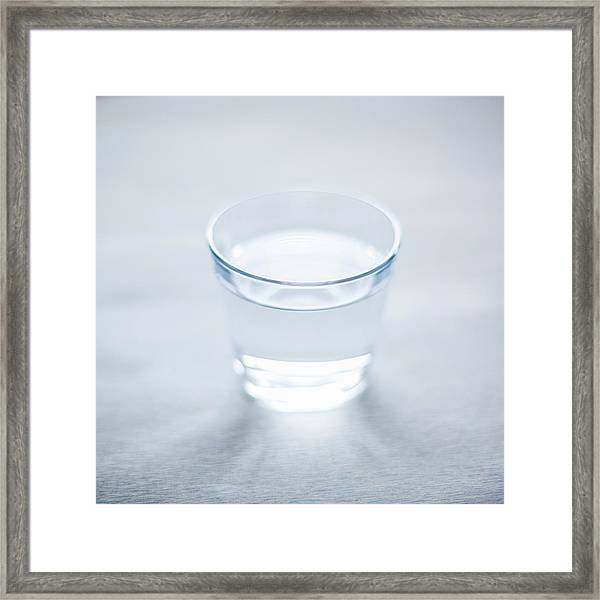 Glass Of Water Framed Print by Steven Errico