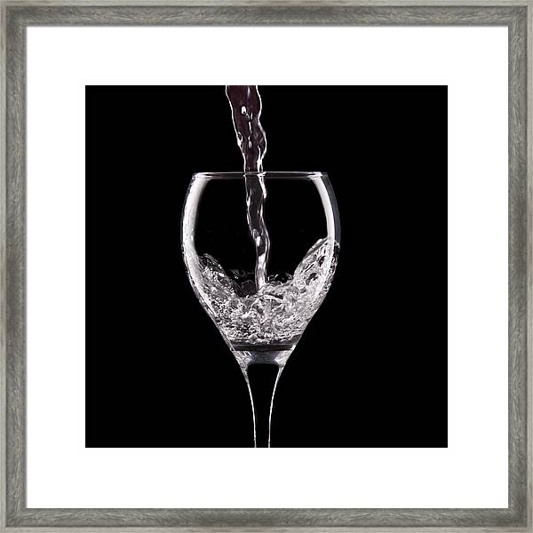 Glass Of Water Framed Print