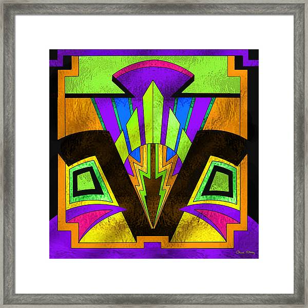 Glass Pattern 5 B Framed Print
