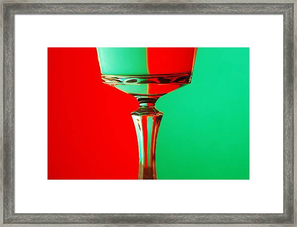 Glass Reflection Framed Print