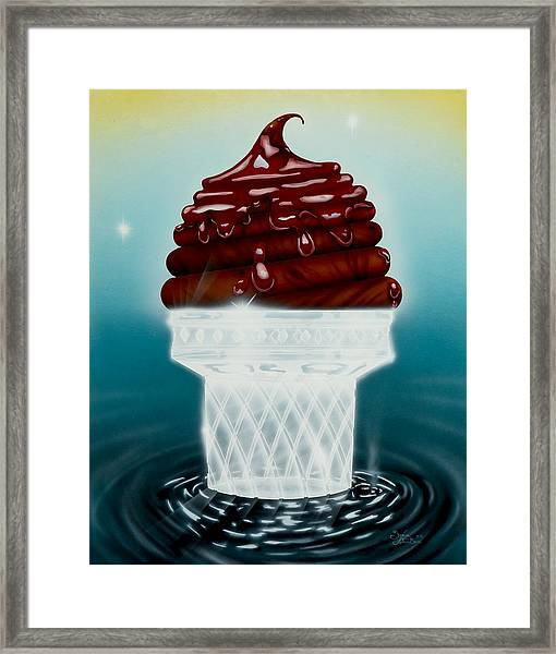 Glasscream Cone Framed Print