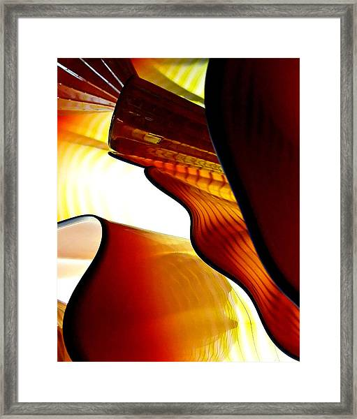 Glassware Abstract Framed Print