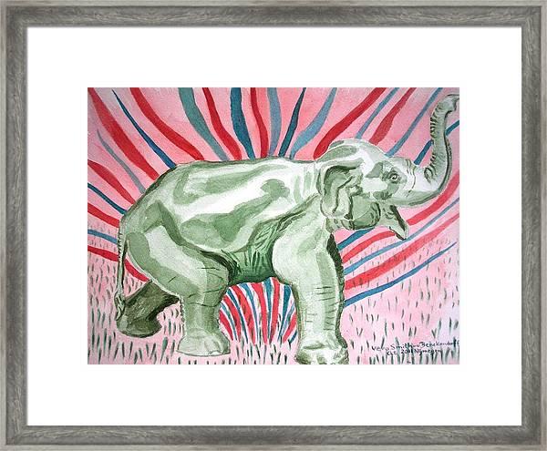 Gleeful Elephant Framed Print