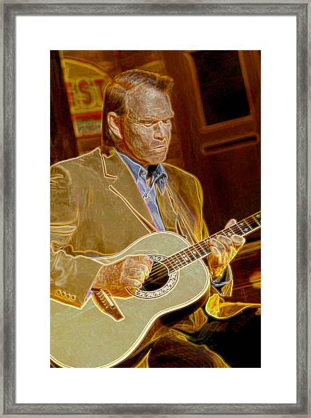 Glen Campbell Framed Print