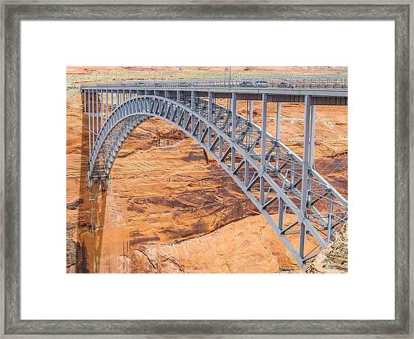 Glen Canyon Dam Bridge Framed Print