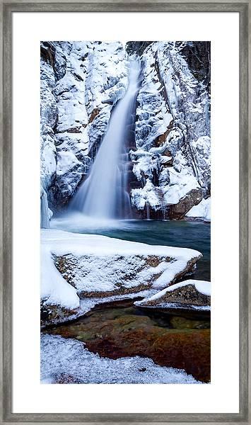 Glen Ellis Falls - Winter Beauty Framed Print