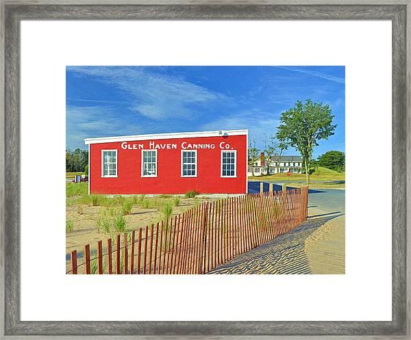 Glen Haven Canning Co. Framed Print