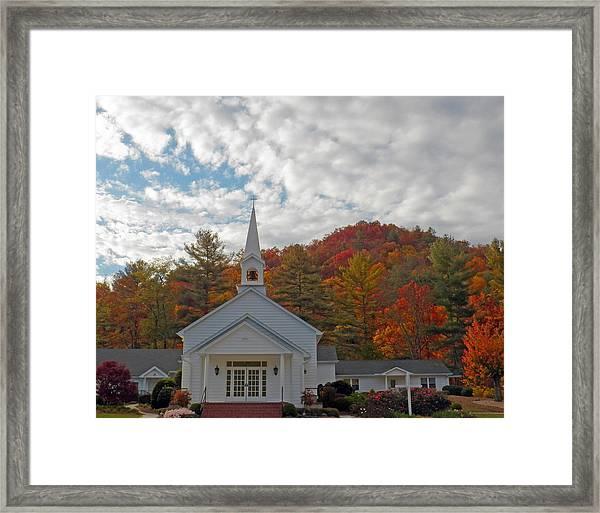 Glenville In Autumn  Framed Print