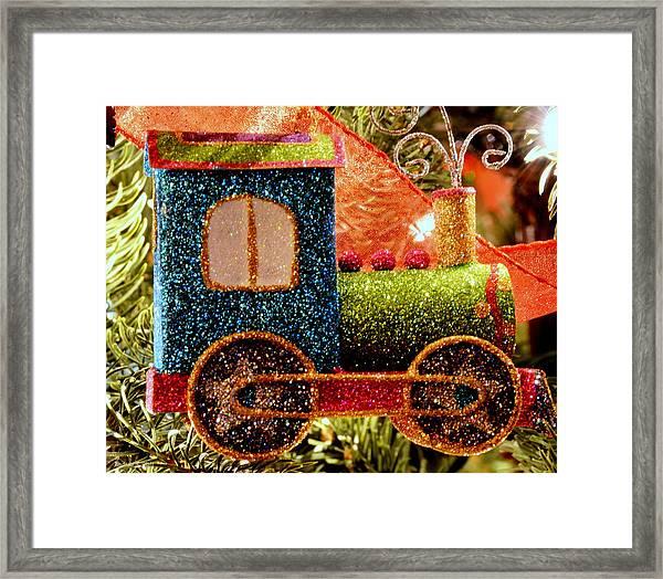 Glitter Express Framed Print