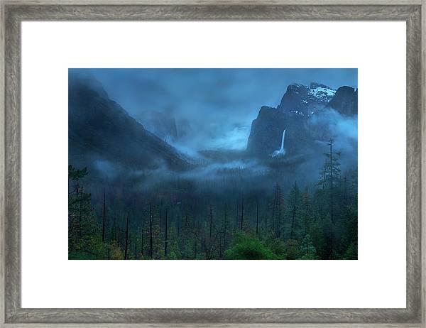 Gloomy Mountain Framed Print