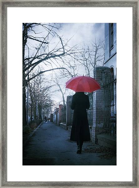 Gloomy Street Framed Print by Cambion Art