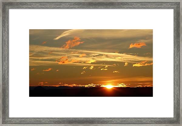 Glorious Light Framed Print
