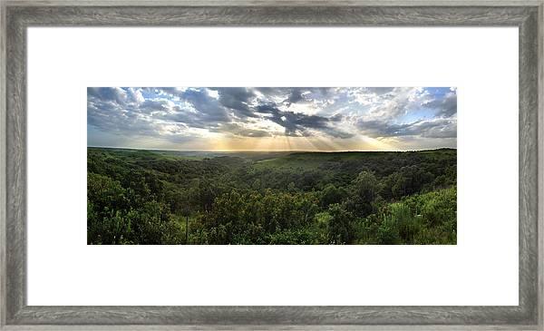 Glory Lights Over The Konza Prairie Framed Print
