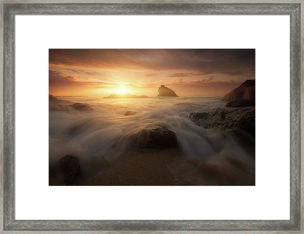 Glory Sun Framed Print