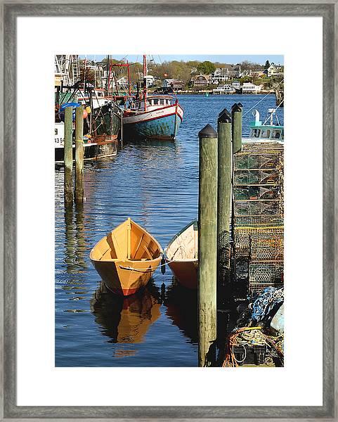 Gloucester Dinghy Framed Print