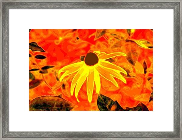 Glowing Embers Framed Print