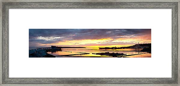 Glowing Freighters Framed Print