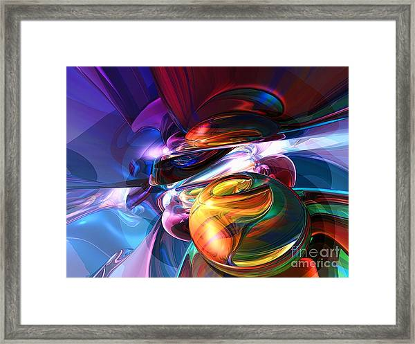 Glowing Life Abstract Framed Print