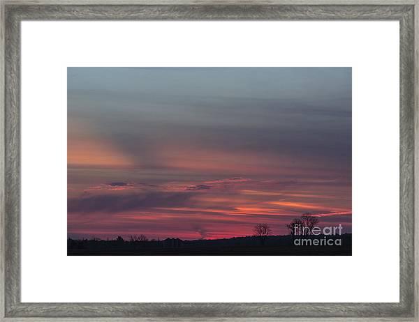 Glowing Plains Framed Print