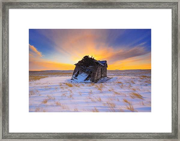 Glowing Winter Framed Print by Kadek Susanto