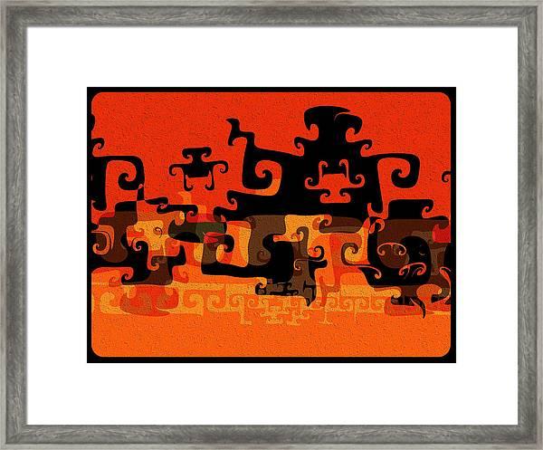 Gnarly Silhouette Parade Framed Print