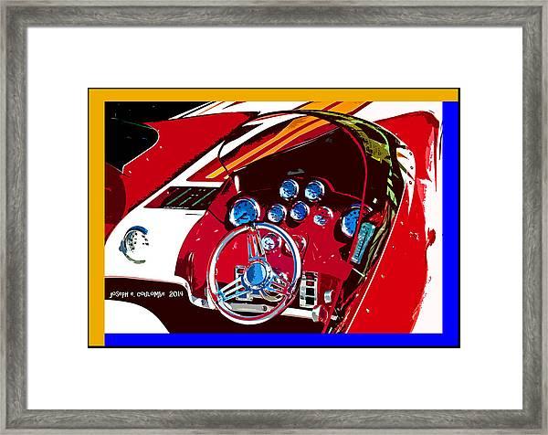 Go Fast Boat Framed Print