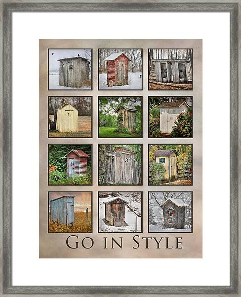 Go In Style - Outhouses Framed Print