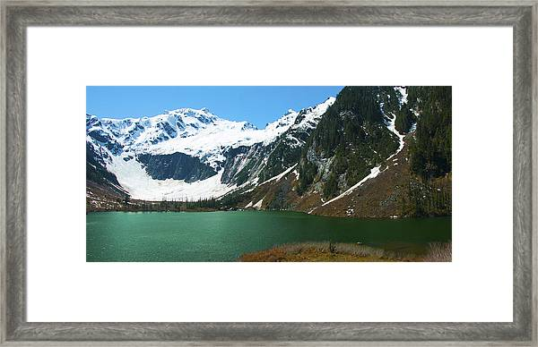 Goat Lake Panorama Framed Print
