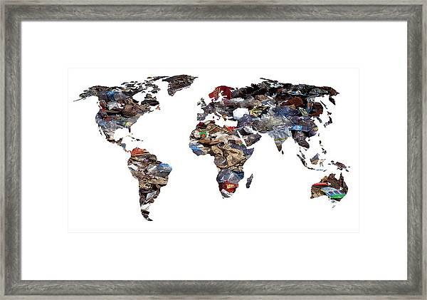 Gobal Refuse Framed Print by Victor De Schwanberg