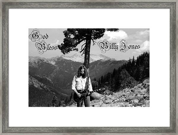 God Bless Billy Jones Framed Print