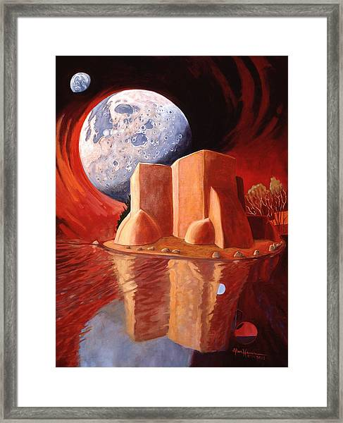 God Is In The Moon Framed Print