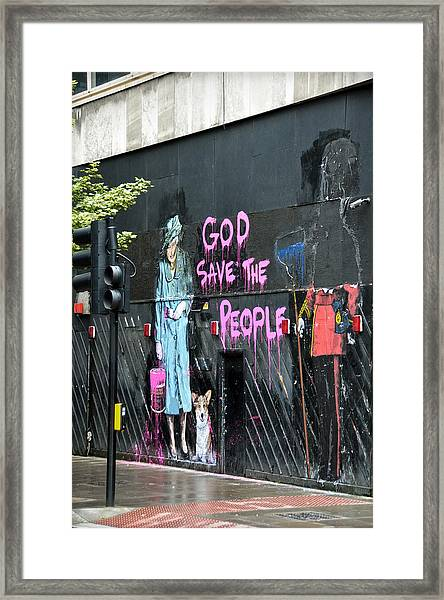 God Save The People Framed Print