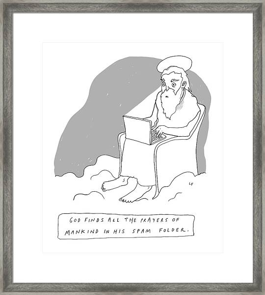 God Sits In A Throne In Heaven Framed Print
