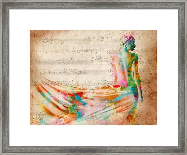 Goddess Of Music Framed Print