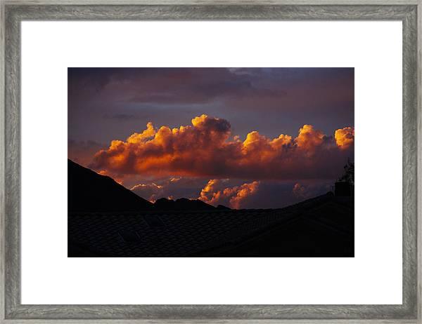 God's Golden Clouds Framed Print