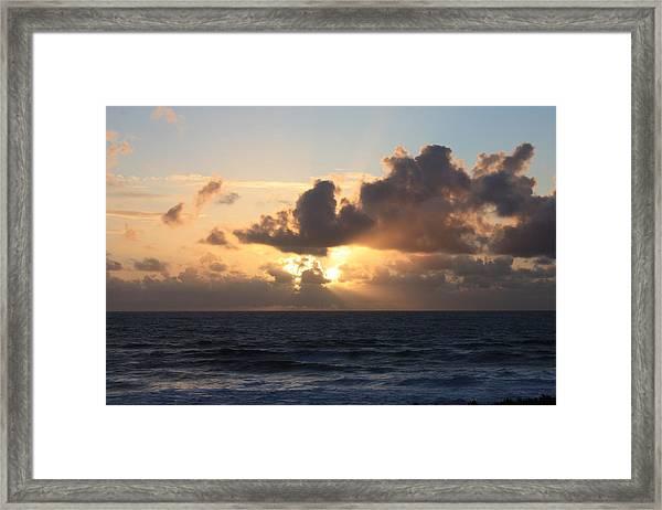 God's Light Framed Print