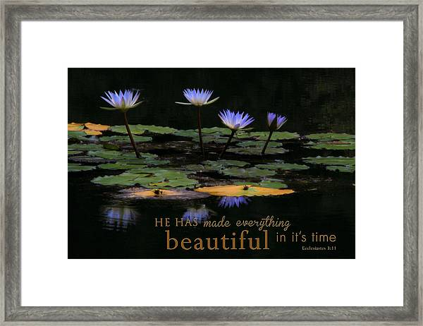 Peace Of Mind With Message Framed Print
