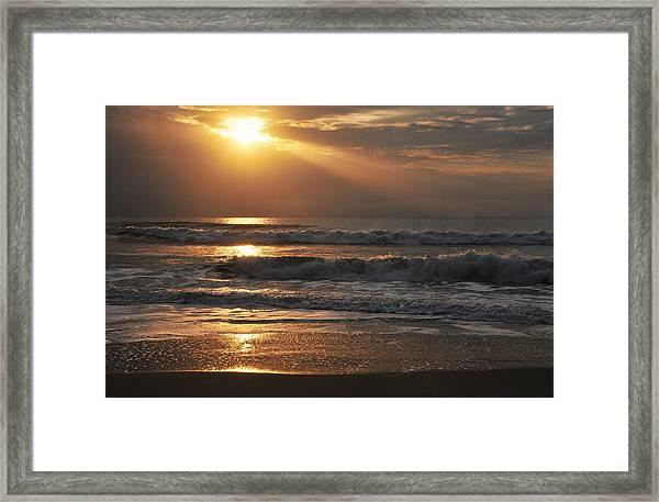 God's Rays Framed Print