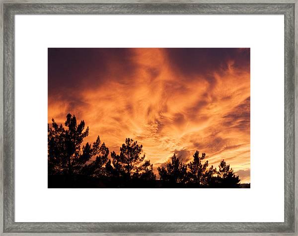 God's Skyfire Framed Print