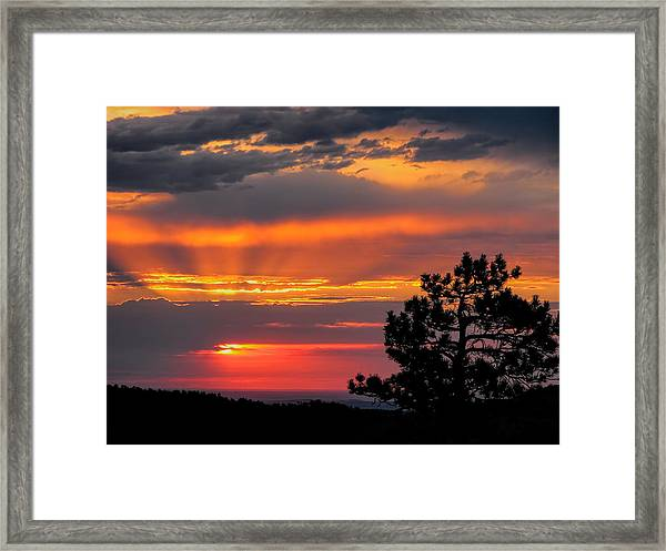 God's Spotlight Over Keystone Framed Print