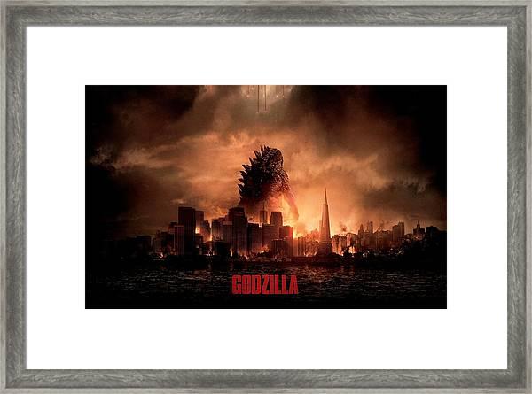 Godzilla 2014 Framed Print