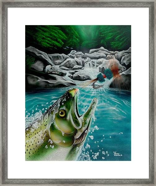 Going After The Wulff Framed Print