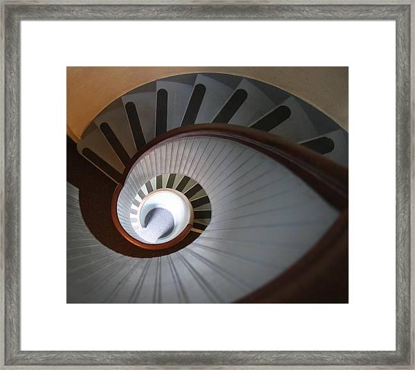Going Down? Framed Print