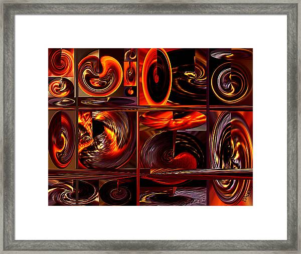Going In Circles Framed Print