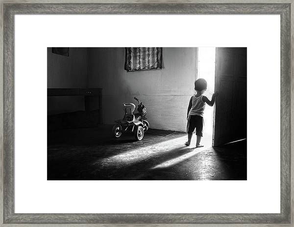 Going To Play Framed Print by Ivan Valentino