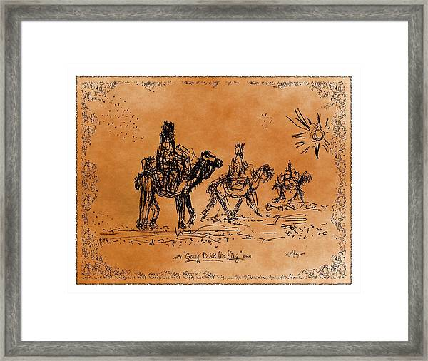 Going To See The King - Sketch Framed Print