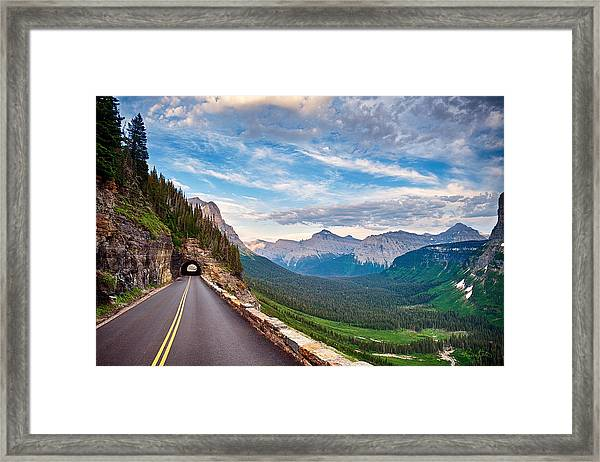 Going To The Sun Framed Print