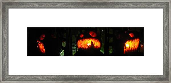 Going Up Pumpkin Framed Print