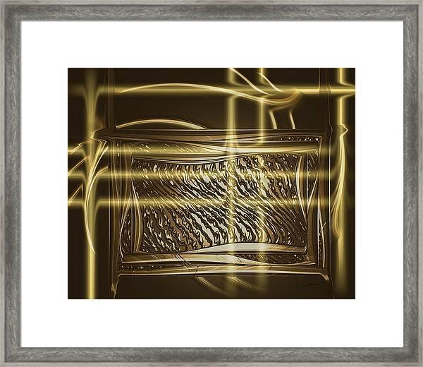 Gold Chrome Abstract Framed Print