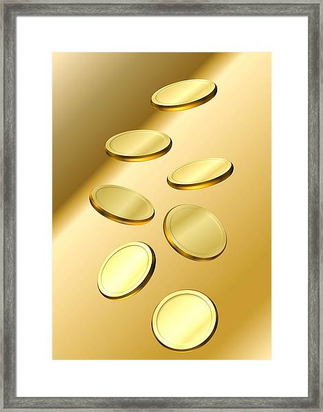 Gold Coins Framed Print